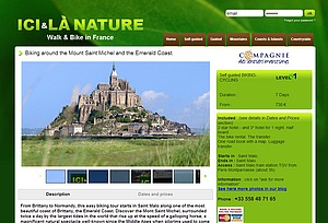 titre 1 Biking around the Mount Saint Michel and the Emerald Coast.