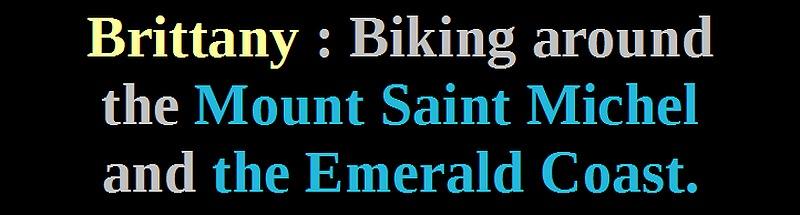 biking mont saint michel france