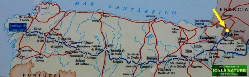 71-ici et la nature-el camino de santiago map