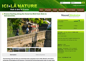 Cycling Biking Holidays Canal du Midi from Sete to Carcassonne