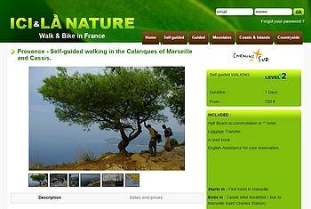 Hiking Holidays Calanques Provence Marseille Cassis.