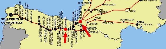map camino de santiago camino frances