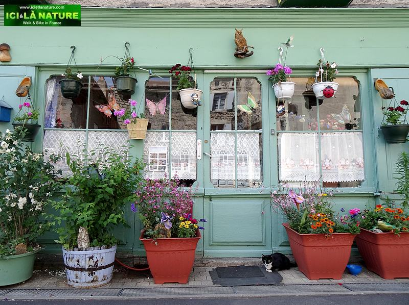 48-saugues old shop flowers