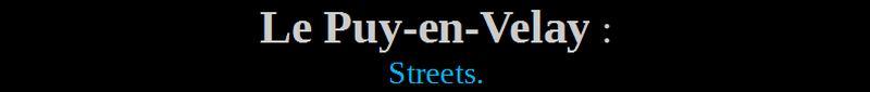 51-le puy-en-velay streets