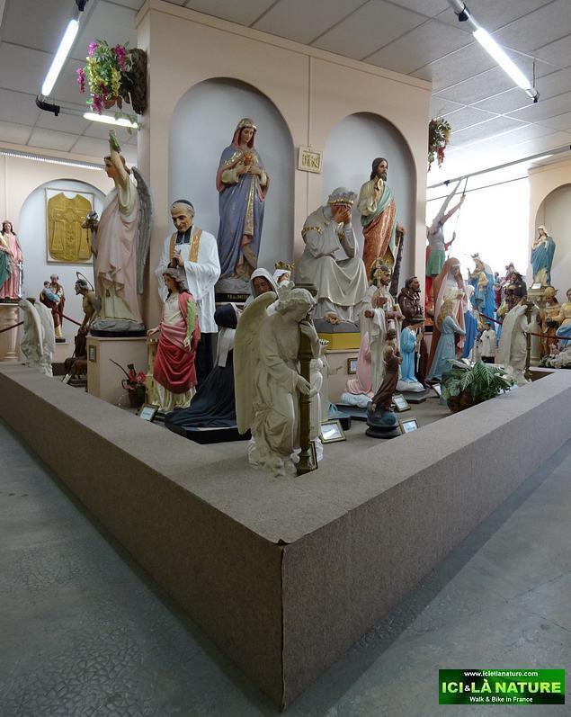 60-lourdes religious statues exhibition