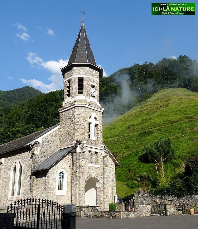 05-church walking pyrenees mountains
