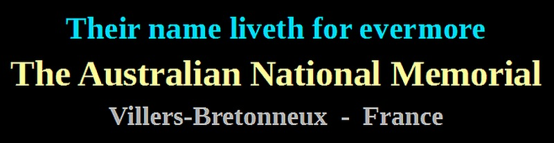 australian national memorial villers-bretonneux