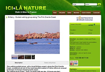 brittany guided walking group along the Pink Granite Coast