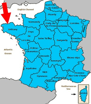 map of france brittany