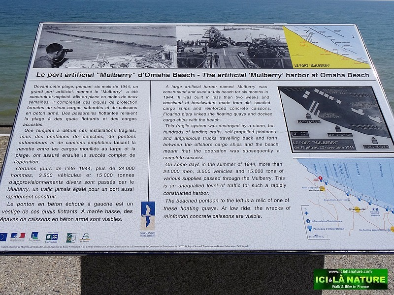 07-artificial harbour omaha beach 1944