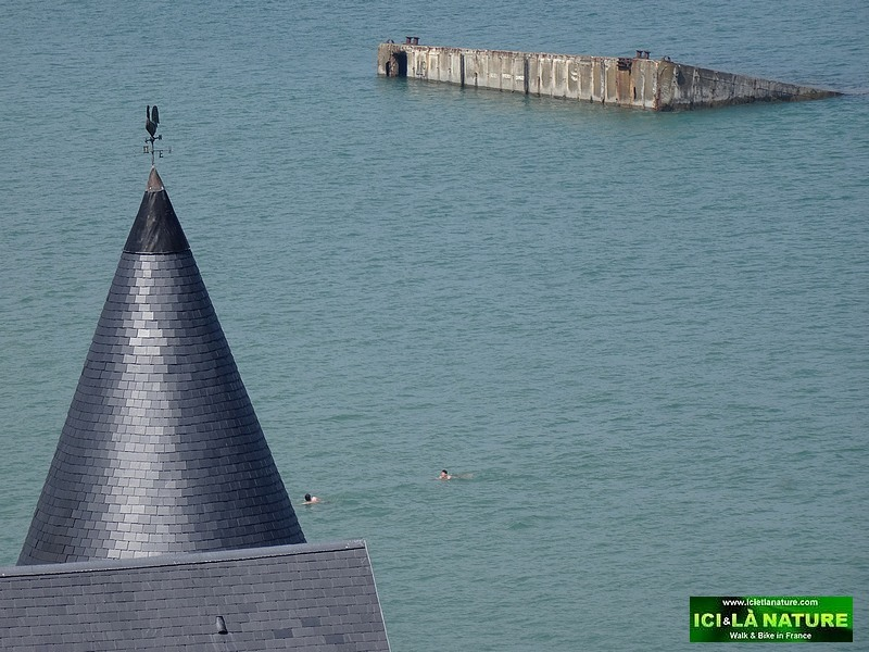 19-Mulberry Harbour remains Arromanches Gold Beach