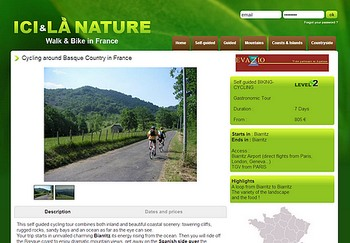 cycling around basque country ici et la nature