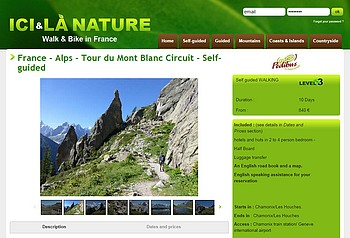 france alps tour du Mont blanc circuit selfguided