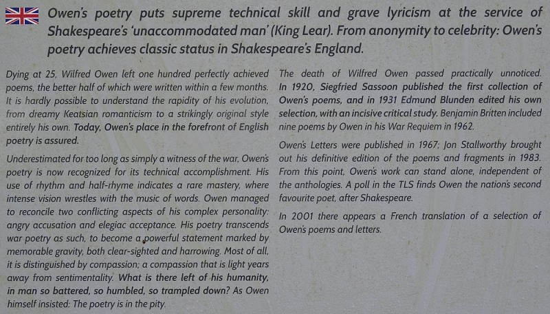 79-owen' s poetry suprme technical skill and grave lyricism