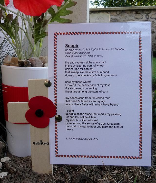 soupir aisne chemin des dames poetry walker 3 october 1914