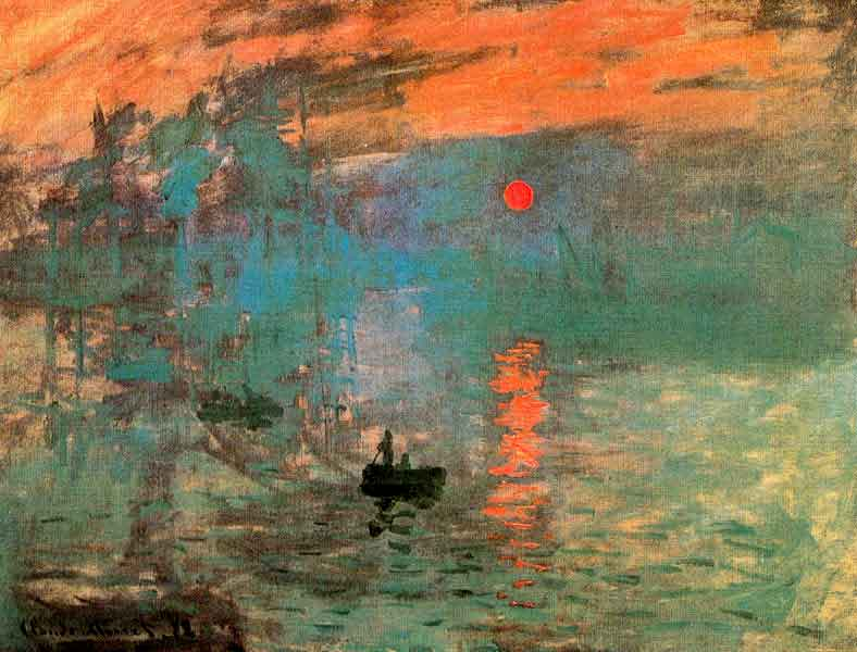 the first impressionnist paintind monet sunrise 1872