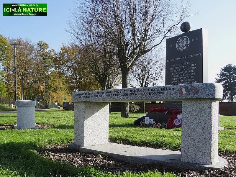 The footballer's memorial great war