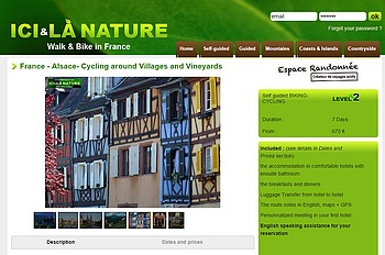 alsace cycling biking tour holidays in france