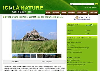 Biking Cycling around mont st michel Emerald Coast