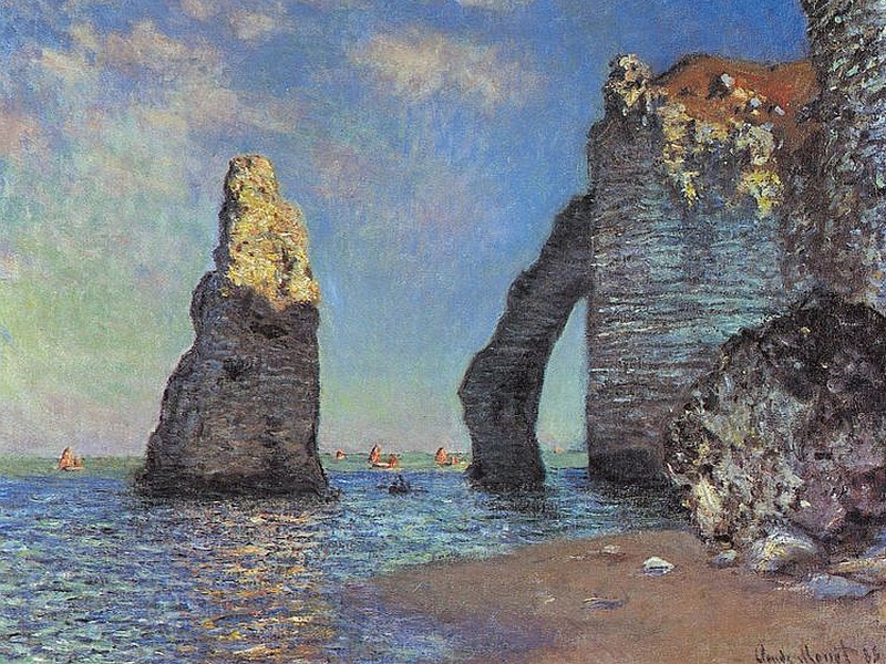 claude monet etretat normandy