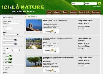 Provence walking and biking holidays