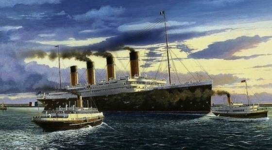 0 titanic ocean liner in cherbourg france