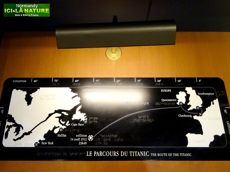 28-the route of the titanic map