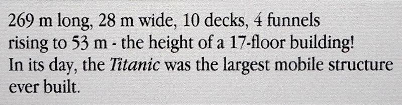 42-General characteristics Titanic passenger liner
