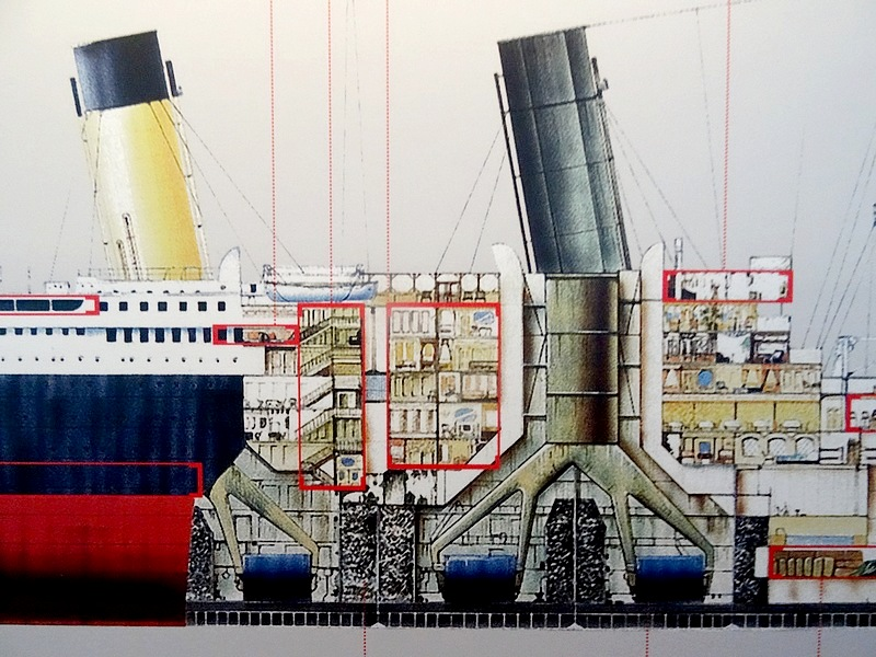 50 - titanic vertical cut ship's engine room