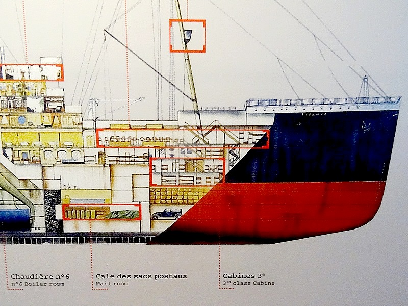51-TITANIC VERTICAL CUT BOW SHIP