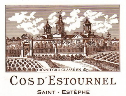 75-chateau cos d' estournel grand vin bordeaux saint estephe
