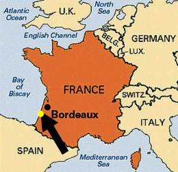 southwestern france map cycling bordeaux
