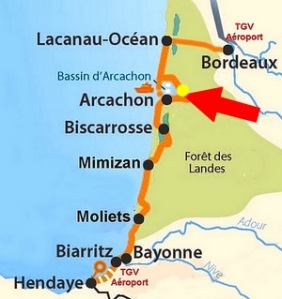 where is bay arcachon in france