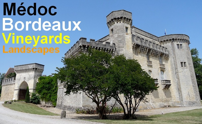 medoc bordeaux vineyards landscapes