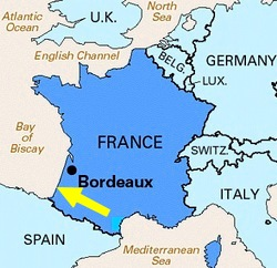 Map Of South West France Coast.France Cycling From Bordeaux To Biarritz Along The Atlantic Coast