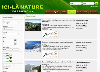 Mountains Hiking trips tours france