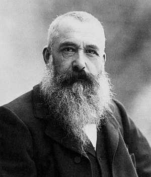60- the French impressionist painter Claude Monet by the photograph Nadar.