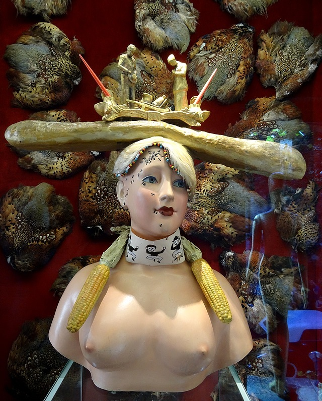 61- Retrospective bust of a woman dali