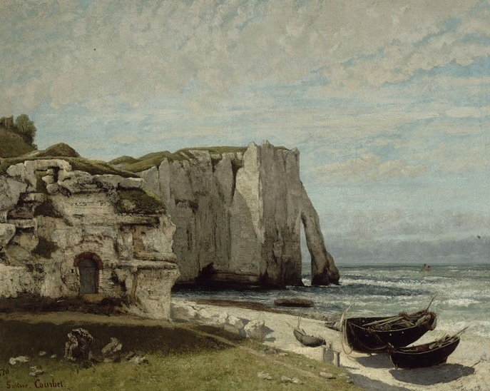 62-Gustave Courbet The Etretat Cliffs after the Storm 1870