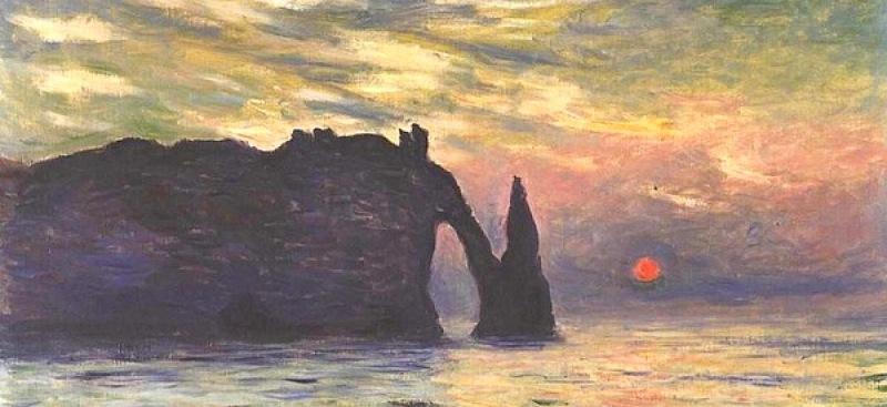 etretat soleil couchant 1883