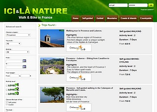hiking biking tours in Provence