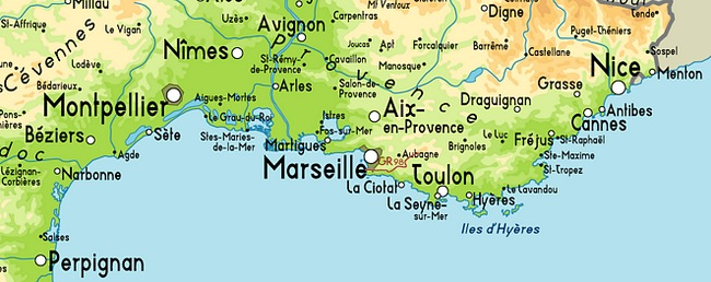 map south france