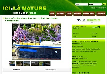 CYCLING CANAL MIDI HOLIDAYS SOUTH FRANCE