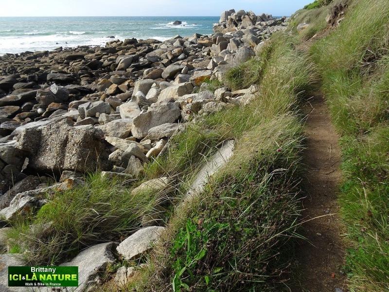 20-walking on coastal path brittany france