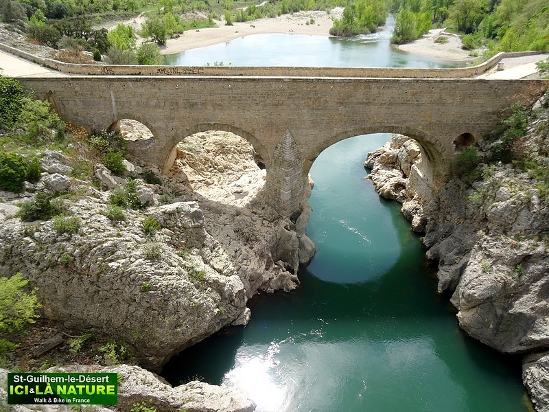 39-PHOTO LE PONT DU DIABLE SAINT GUILHEM LE DESERT