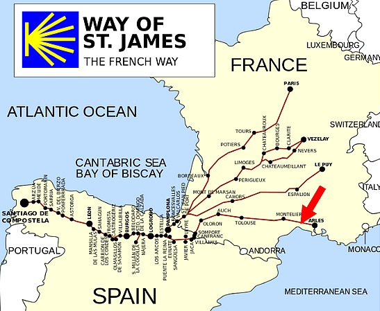way of st james map france