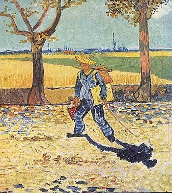 70-van gogh - Painter on his way to work-arles