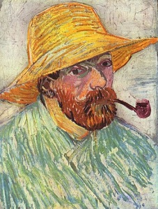 70-VAN GOGH -Self-Portrait with Pipe and Straw Hat