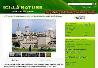 france-provence-cycling arles route via tolosana