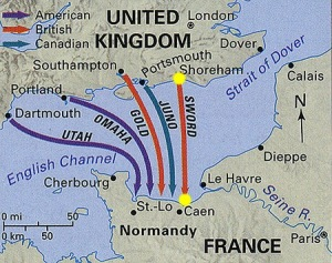 map normandy